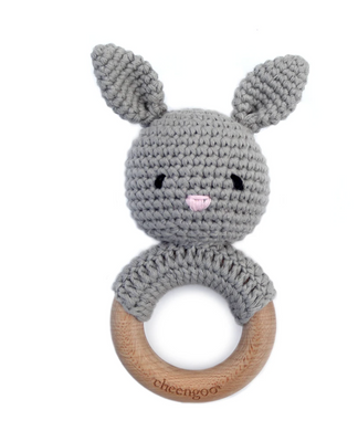 Bunny Teether - Gray