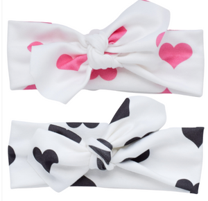 Organic Cotton Head Wraps - Hearts