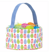Easter Egg Green Canvas Easter Basket