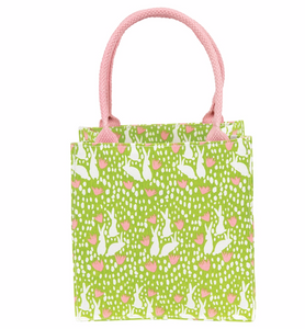 Bunnies Green, Medium Itsy Bitsy Gift Bags