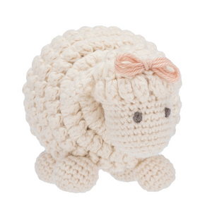 Hand-knit Sheep Rattle