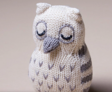 Knit Owl Rattle