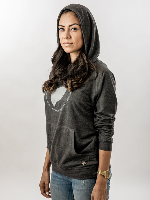 Hoodie Gris Let's Give Some Air - Mujer