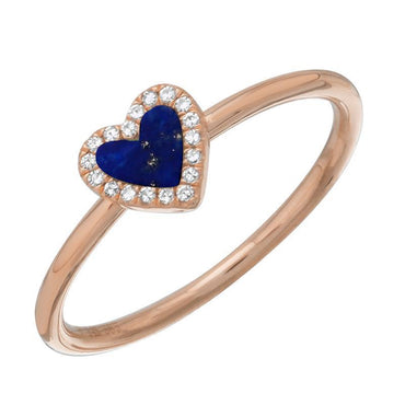 ALEV Lapis Heart Ring