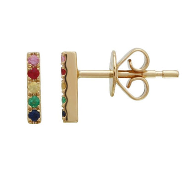 ALEV Rainbow Bar Stud - Camila Canabal Shop
