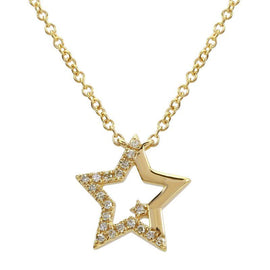 ALEV Collar Half Pave StaR - Camila Canabal Shop