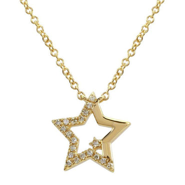 ALEV Half Pave Star Necklace