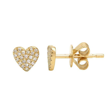 ALEV Small Pave Heart Studs