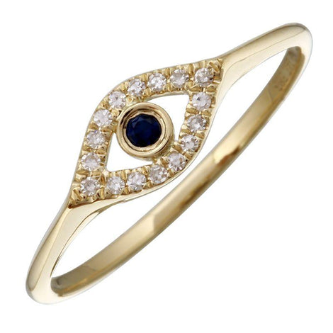 ALEV Anillo Mini Cutout Evil Eye