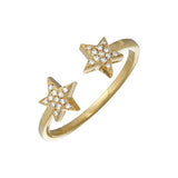 ALEV Anillo Two Star - Camila Canabal Shop