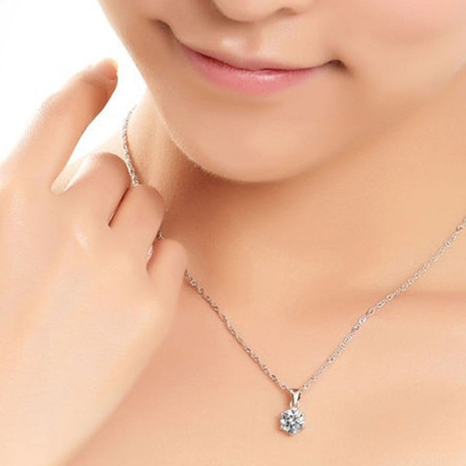 Zircon Necklace Set - Wish-n-Bliss