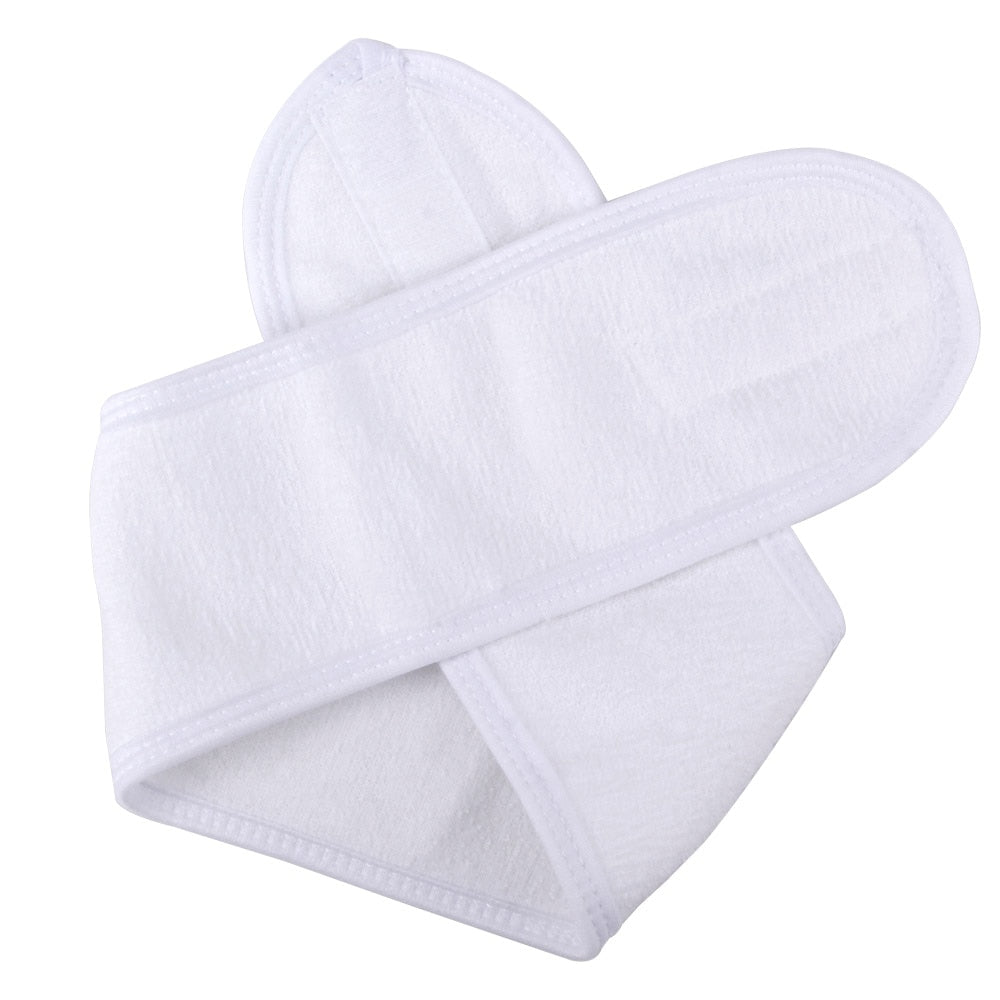 Eyelashes Extension Spa Facial Headband Wrap Head Terry Cloth Headband Make Up Stretch Towel with Magic Tape Makeup Accessories