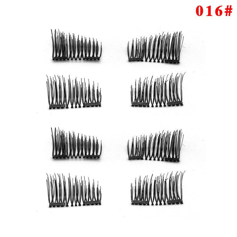 8Pcs/4pair Magnetic Fiber Eyelashes Kit