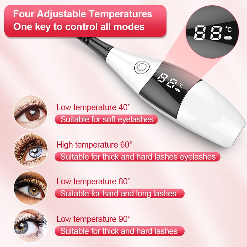Electric Heating Eyelash Curler Set