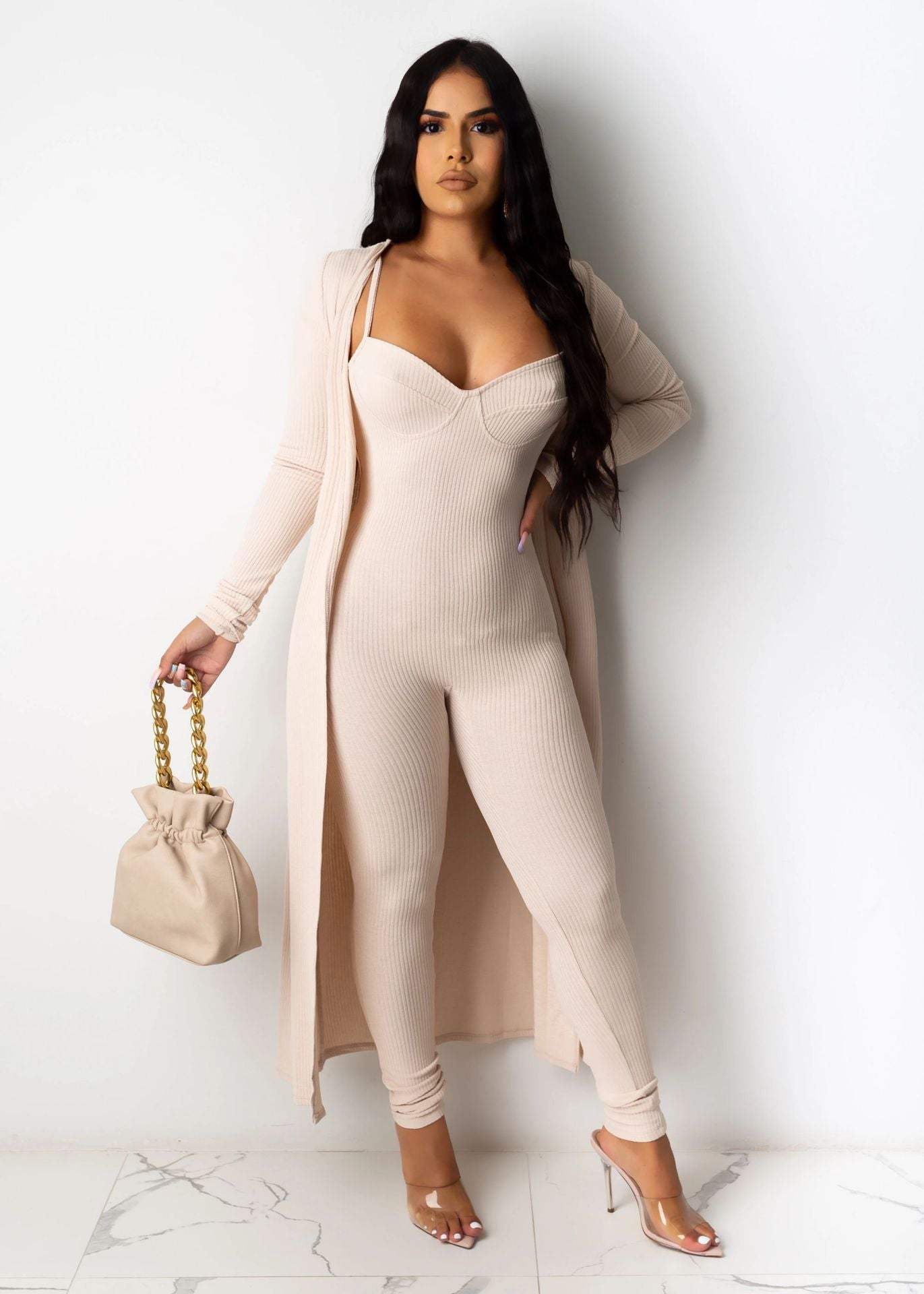 Fall Clothes 2020 Long Sleeve Casual Lounge Wear Lady Outfit With Cover Bodysuit Vendors Women Jumpsuit