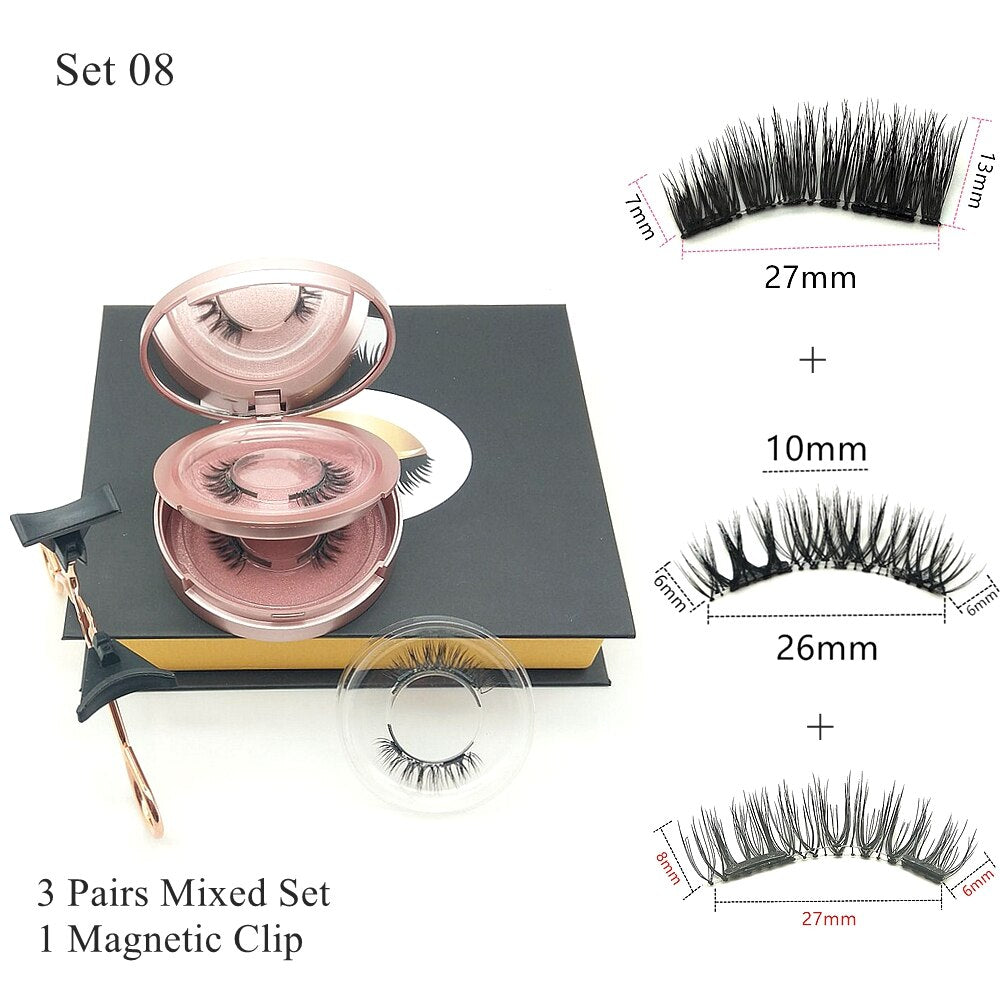Luxury No-Glue Magnetic Eyelashes Set (2 Pairs)
