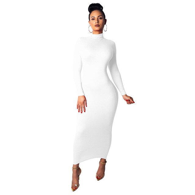 Turtleneck Long Lounge Dress