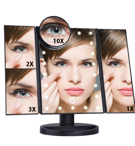 LED Touch Screen Light Makeup Table Mirror