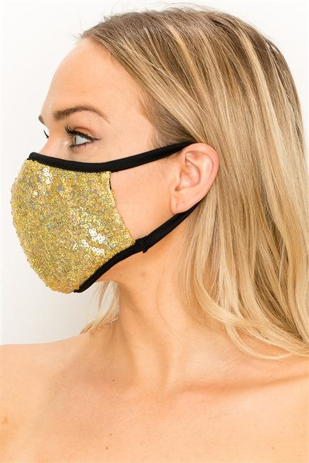FASHION MASK - GOLD SEQUENCE