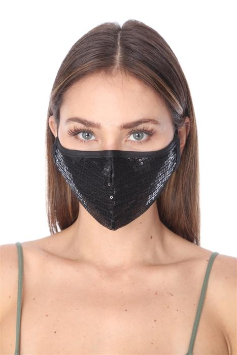 FASHION MASK - BLACK SEQUINS