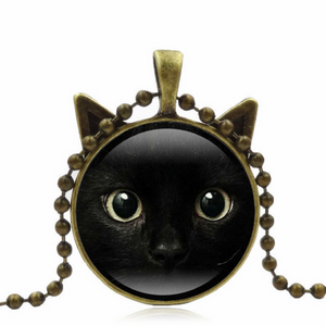 Black Cat Necklace Free+Shipping