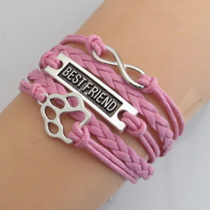 Handmade Dog Paw Love Best Friend Bracelets Free+Shipping
