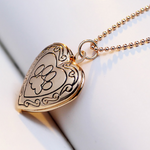 Gold Plated Dog Paw Open Locket Necklaces Free+Shipping