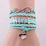 Wine Love Bracelets Free+Shipping