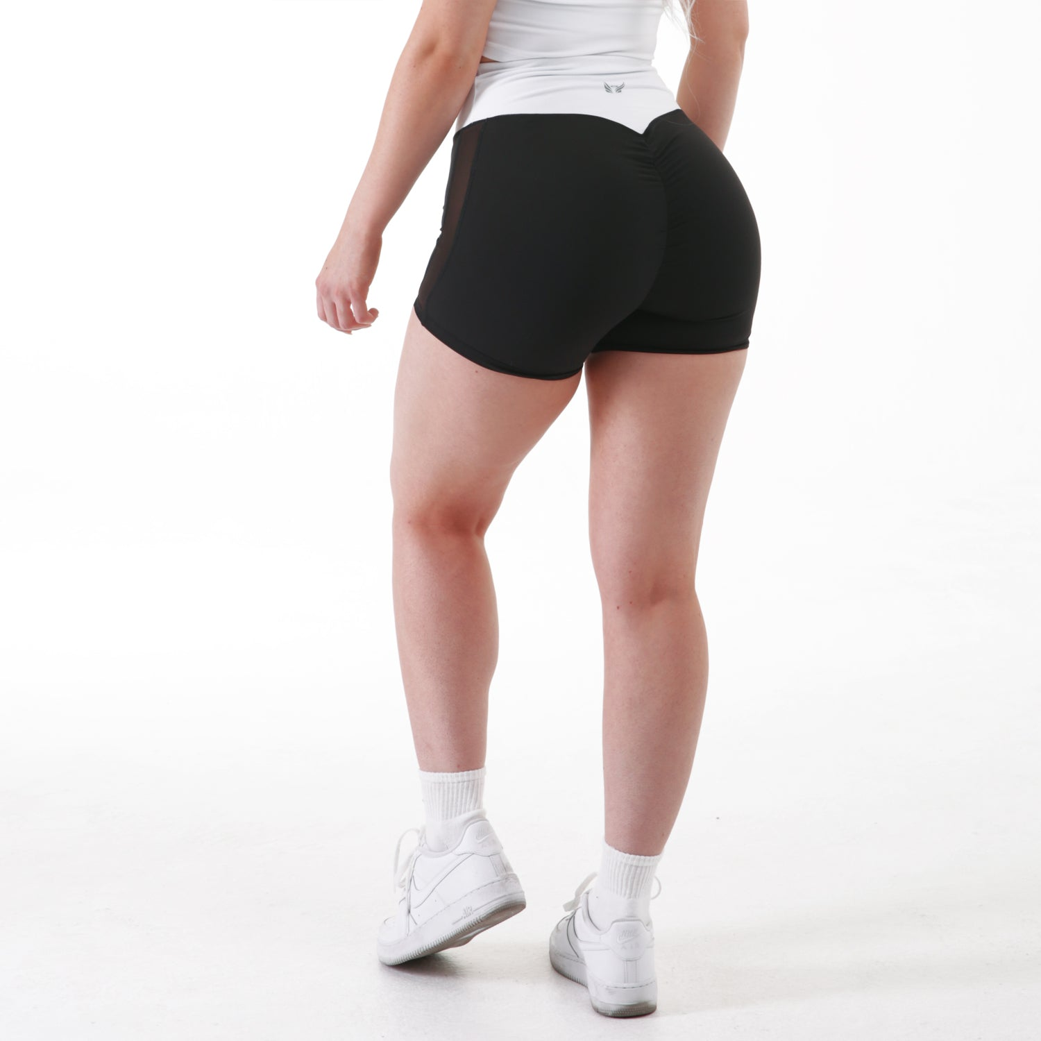 Blanco Scrunch Booty Shorts