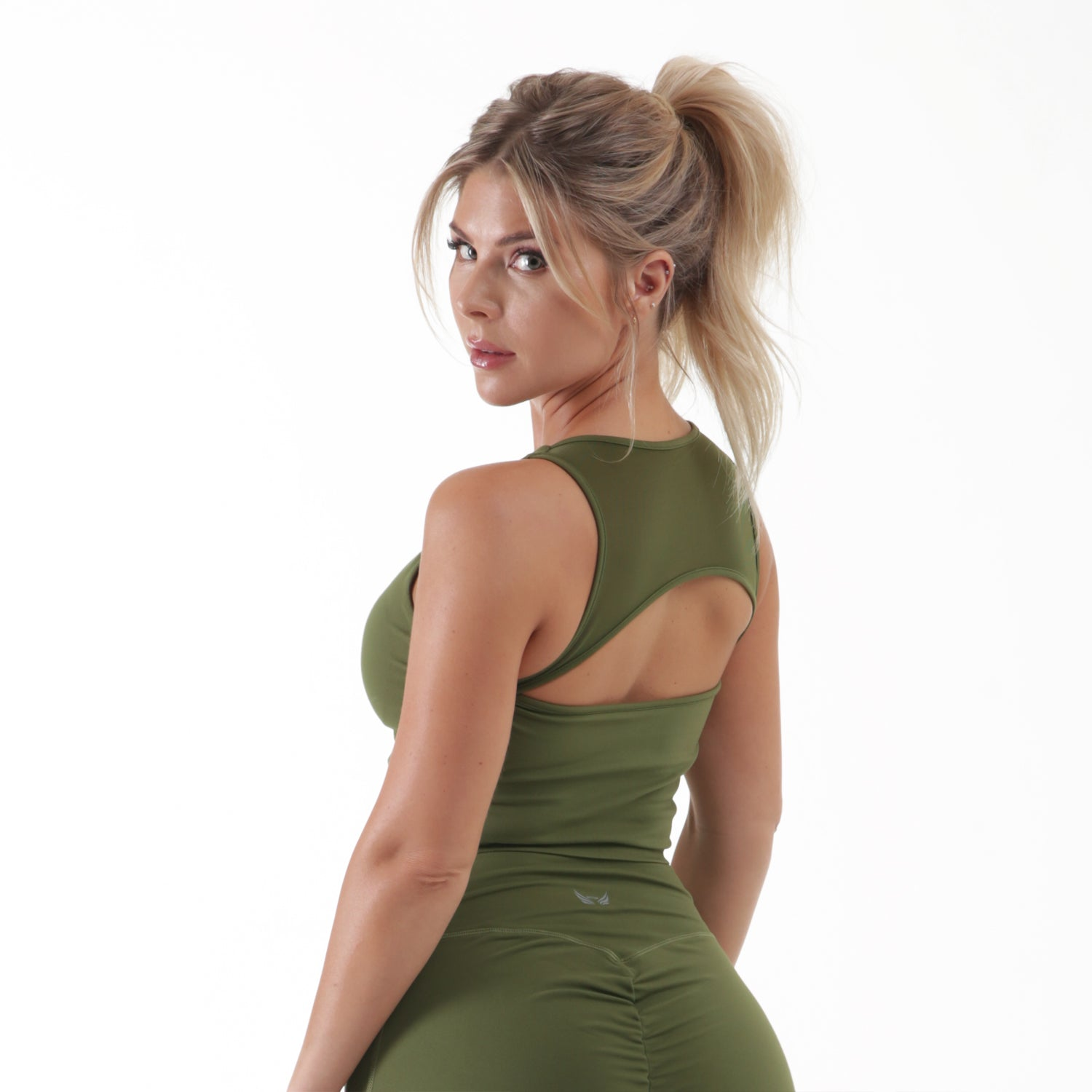 Olive Sports Top