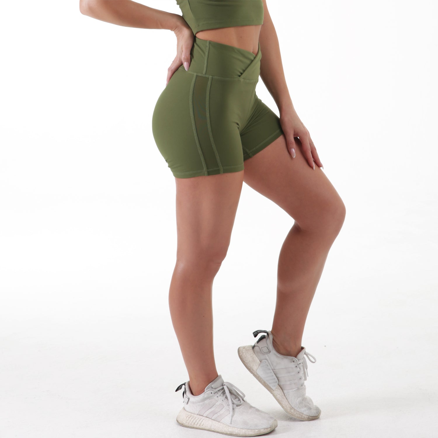 Olive Scrunch Booty Shorts