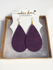 Imperial Purple Suede Earrings