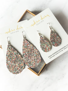 Cotton Candy Glitter Leather Earrings