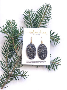 Holiday Swirl Leather Earrings