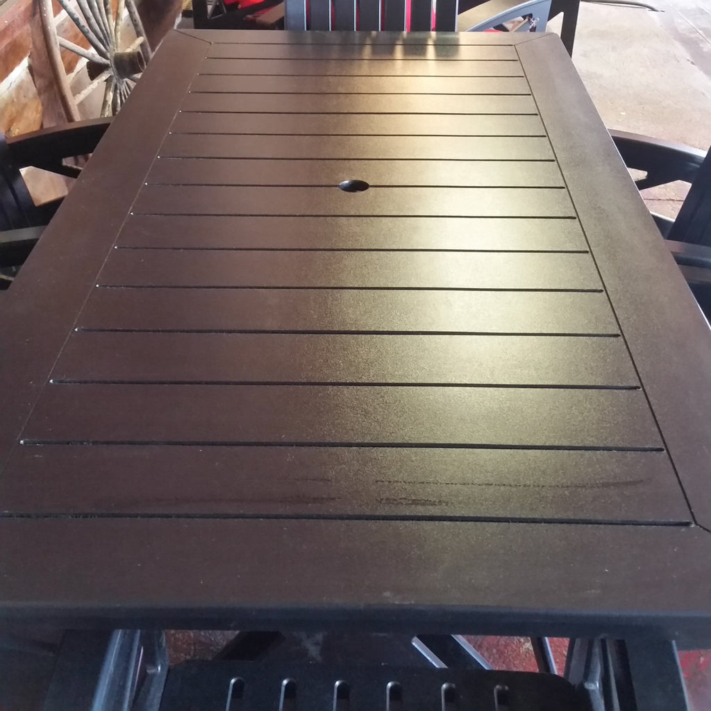 "Beaver Springs Dining Table Black 36"" x 72"" Recycled Plastic"