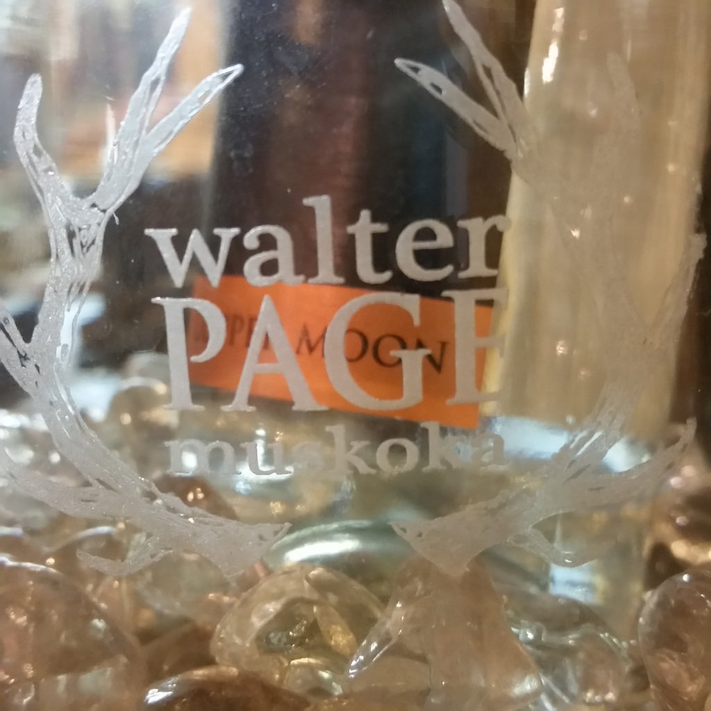 "Walter Page Thick Glass Ice Bucket 6.5"" Dia. 6.5"" H."