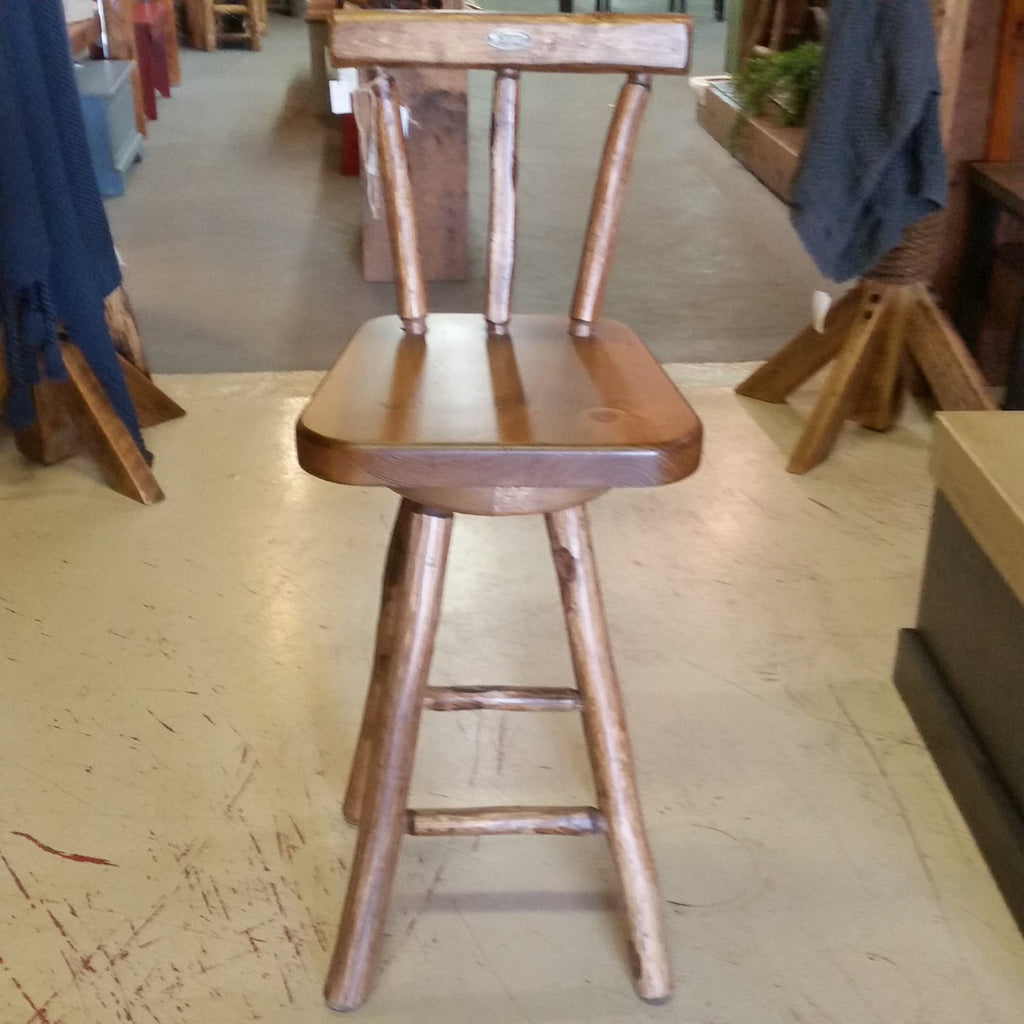 "Walter Page 30"" Bar Stool Swivel w/ Back"