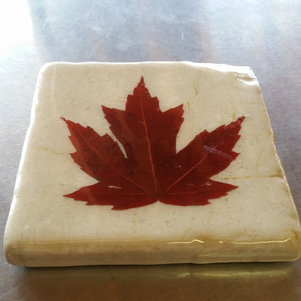 Maple Leaf Artisans Marble Coaster / Various