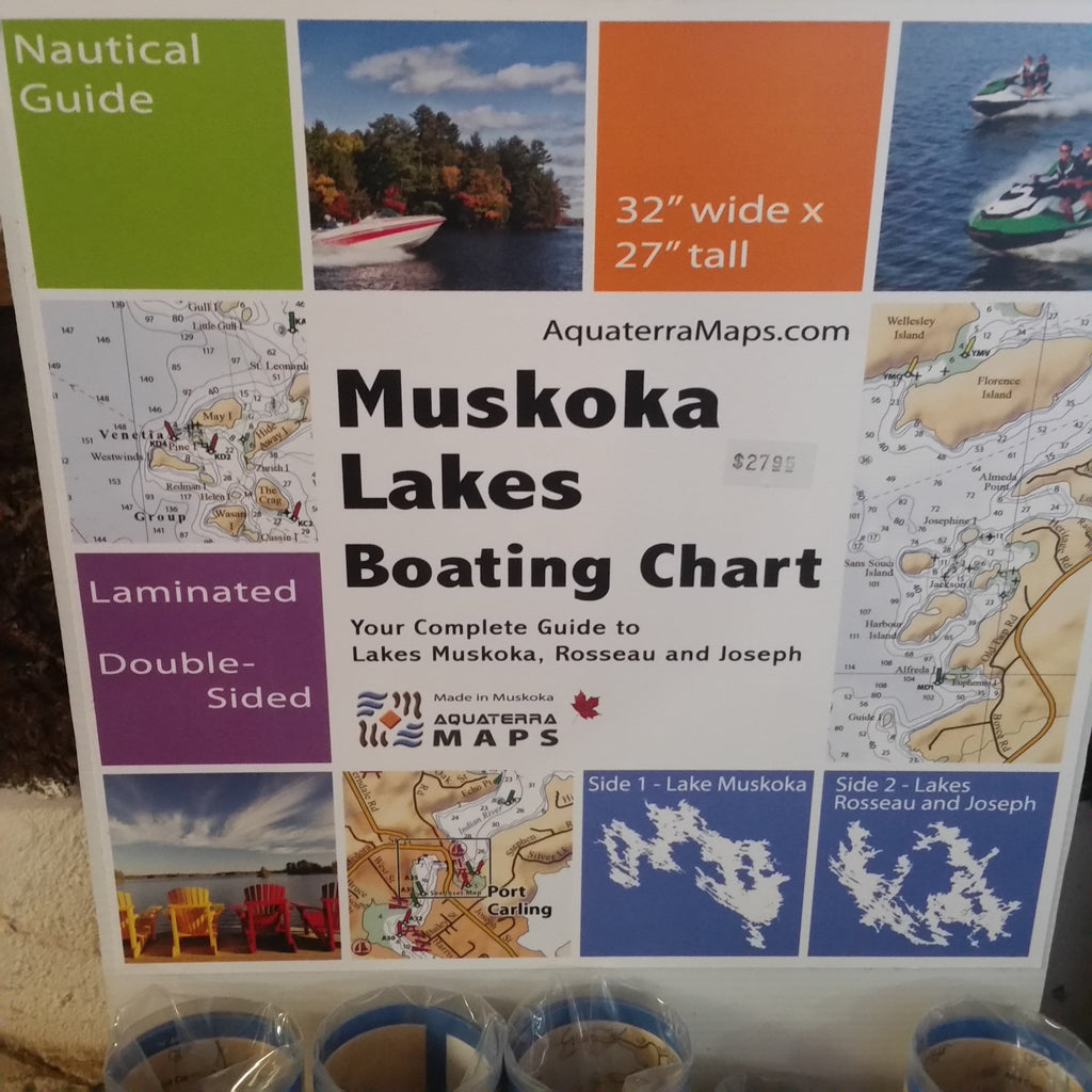 Aquaterra Muskoka Lakes Nautical Chart