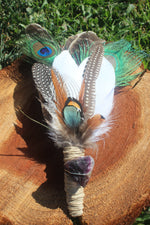 Custom Feather Smudging Wand