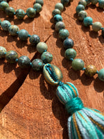 African Turquoise hand-knotted Mala