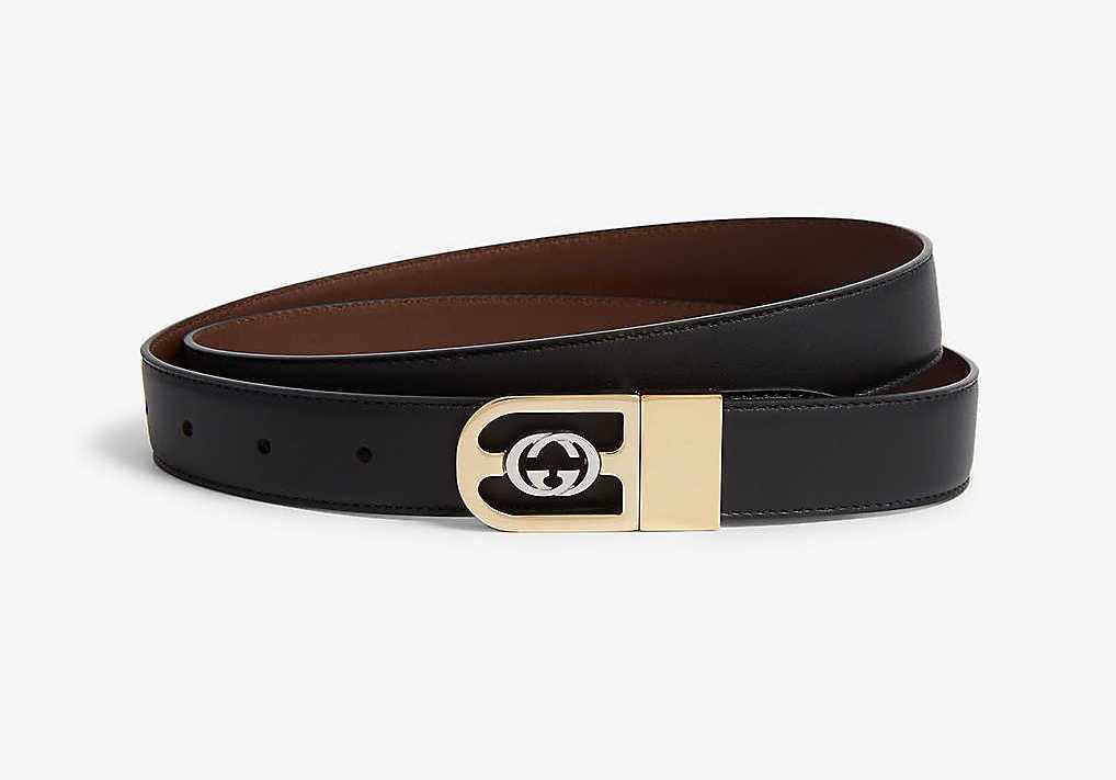 Reversible belts, leather belts