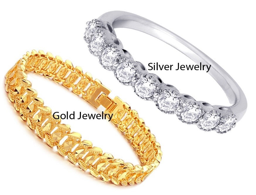 Differences between jewelry metal, Gold vs Silver
