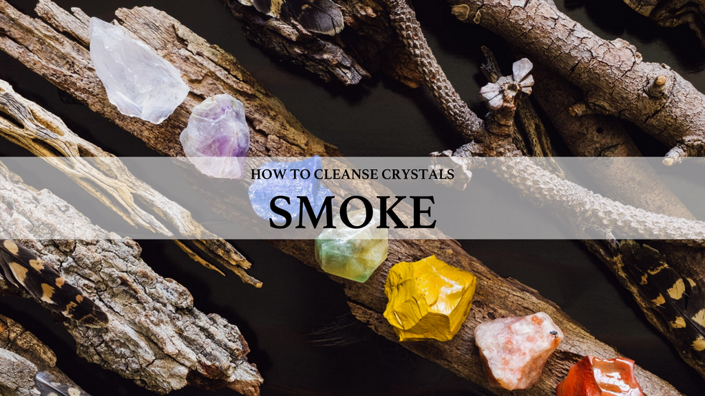 how to cleanse crystals, use smoke to cleanse crystals