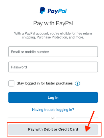 You Can Checkout Without a PayPal Account** – Azuro Republic