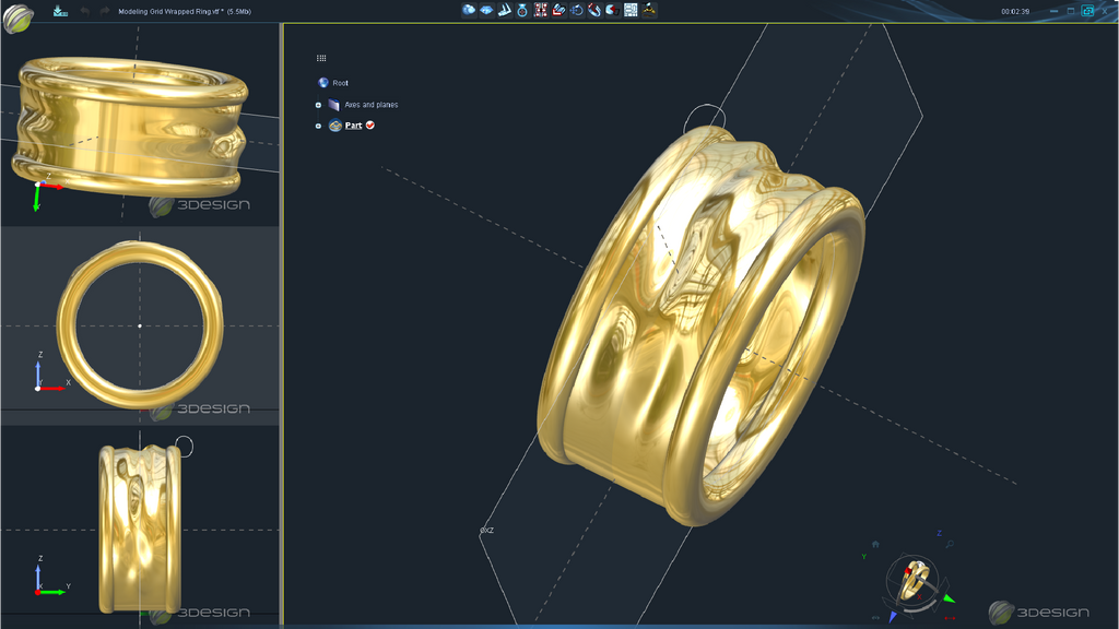 3d design for mens jewelry in CAD software