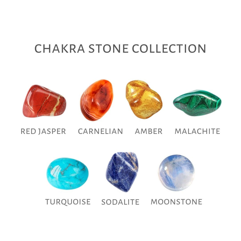 7 chakra stones collection, chakra stones of 7 colors, chakra collection with 7 chakra stones, chakra stones guide, 7 chakra crystals, a set of chakra stones, 7 chakra colors