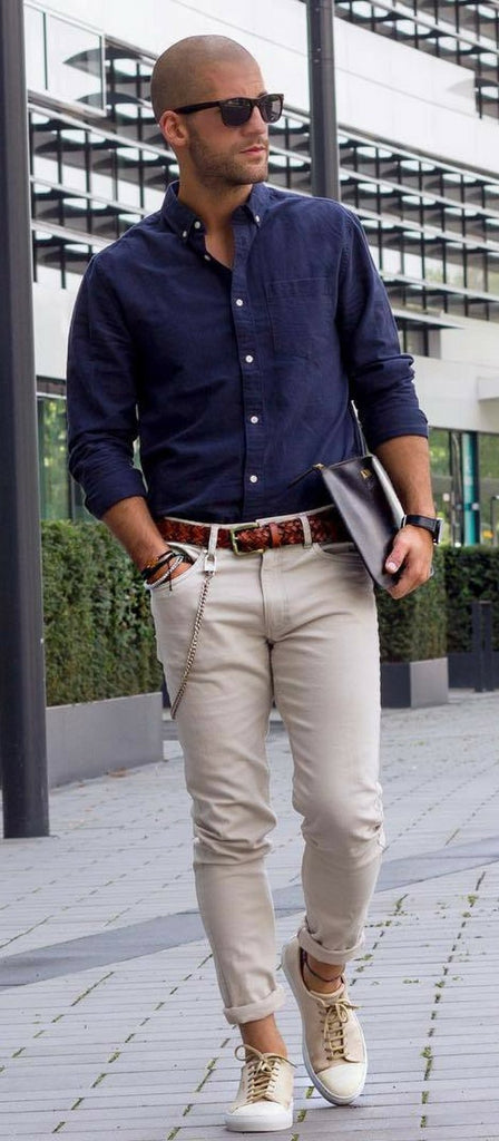 Men's summer fashion on what's chambray