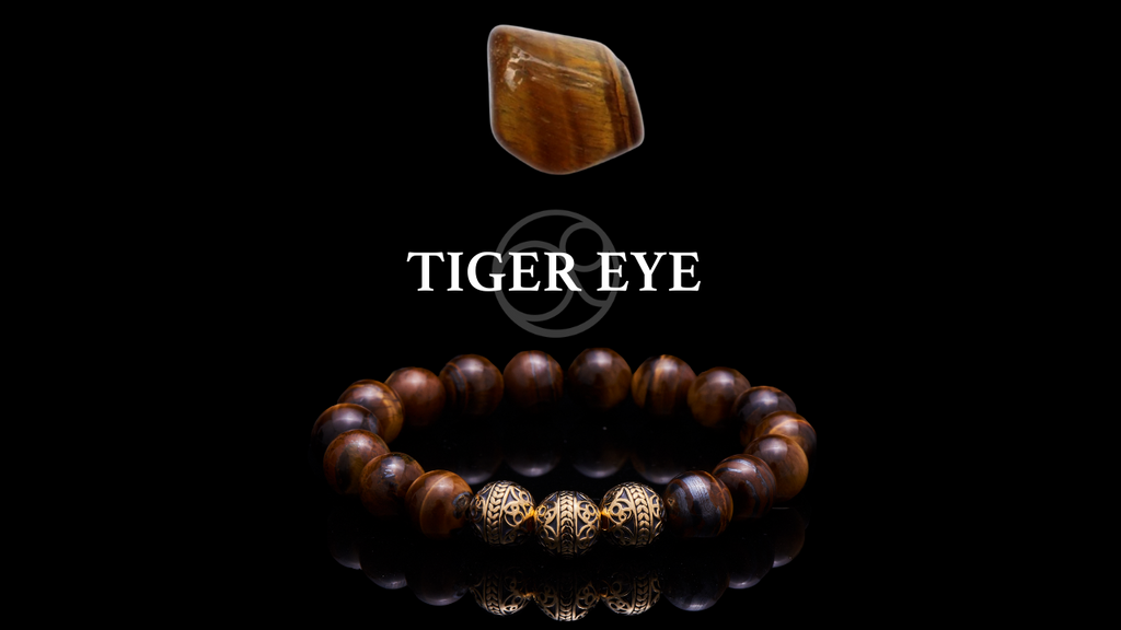 Tiger Eye Crystal and Tiger Eye with 24k Gold Plated Beads Beaded Bracelet