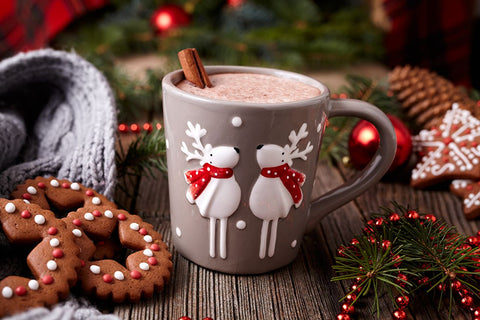 christmas mug with two deer design as an option of 4 Thoughtful thanksgiving gift ideas for Family the perfect christmas present for friends